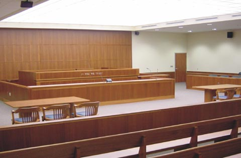 "Hall of Justice ""Courtroom of the Future."""