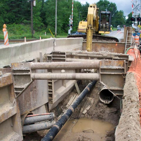 Construction of Sewer Force Main.