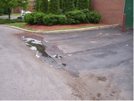 Illicit Discharge Example - End of Driveway