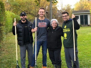 Picture of Office of the Aging leaf raking team