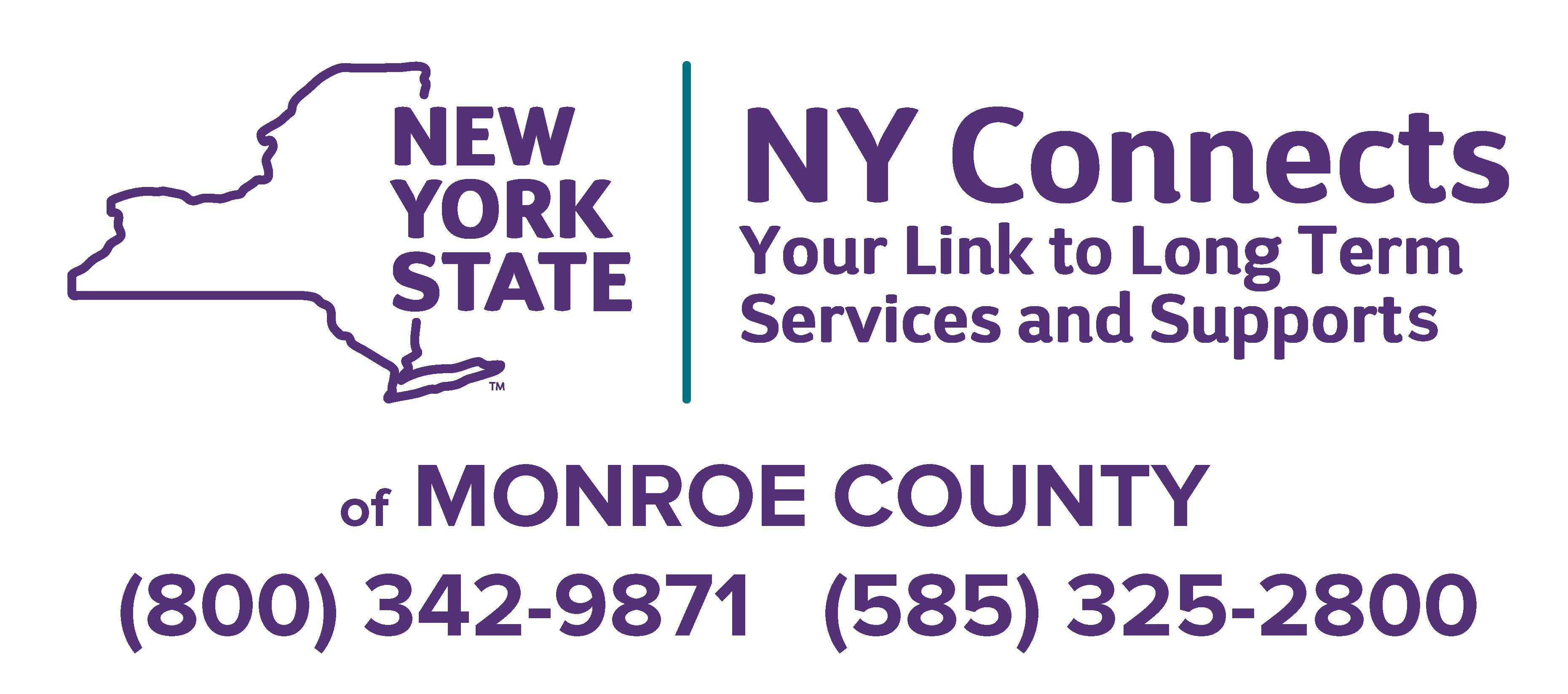 NY Connects of Monroe County, Your Link to Long Term Services and Supports - (800) 342-9871 or (585) 325-2800