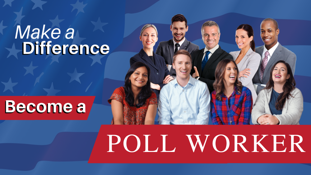Make a Difference: Become a Poll Worker graphic