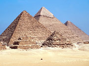 Picture of Egyptian pyramids.