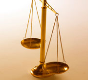 Picture of scales of justice.
