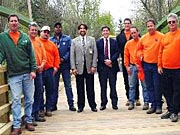 Picture of the Stuart Road Bridge team.