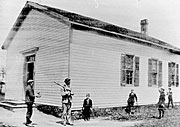 Old picture of Chili #11 schoolhouse.