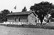 Old picture of Ogden schoolhouse.