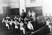 Old picture of classroom in Chili #1 school.