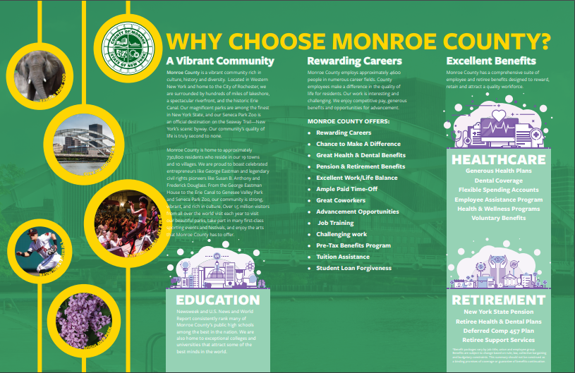 image of welcome to Monroe brochure