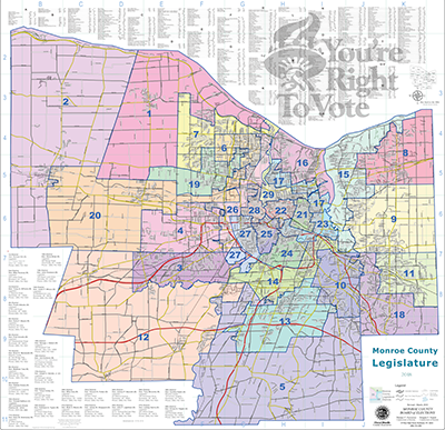 Rochester Ny Zip Code Map Districts | Monroe County, NY