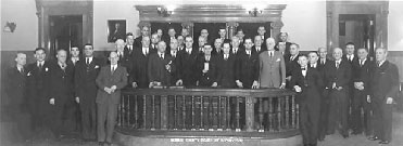 An old picture of Monroe County Legislators.