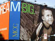 Picture of Dream Big billboard promoting the MCC Damon City Campus.
