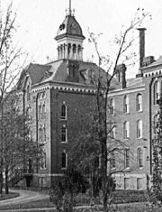 An old picture of Monroe Community Hospital.