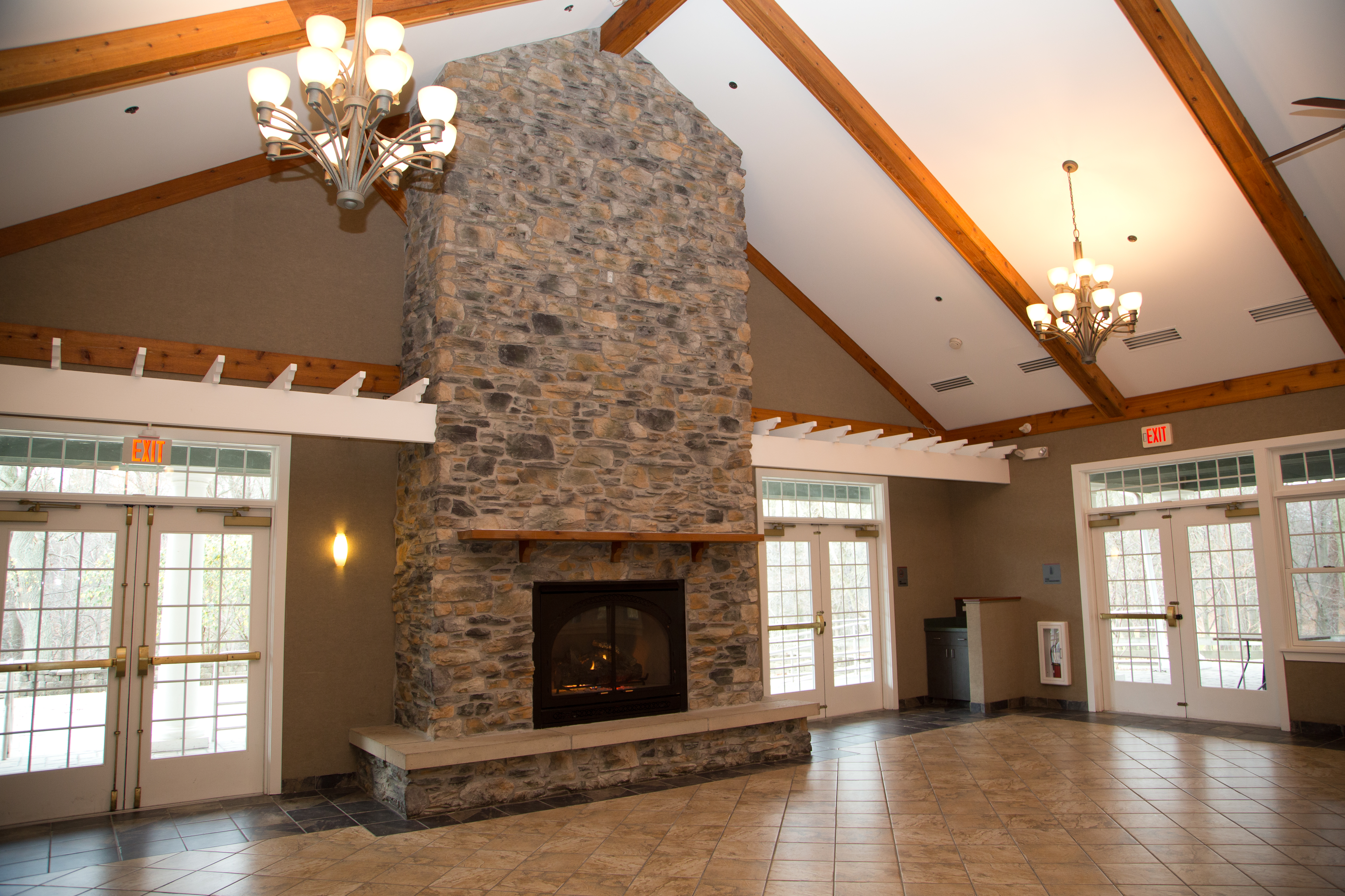 the fire place within durrand eastman clubhouse