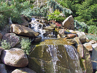 Picture of stream from Sharon's Sensory Garden