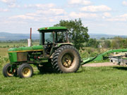 Picture of John Deere tractor.