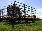 Picture of hay trailer.