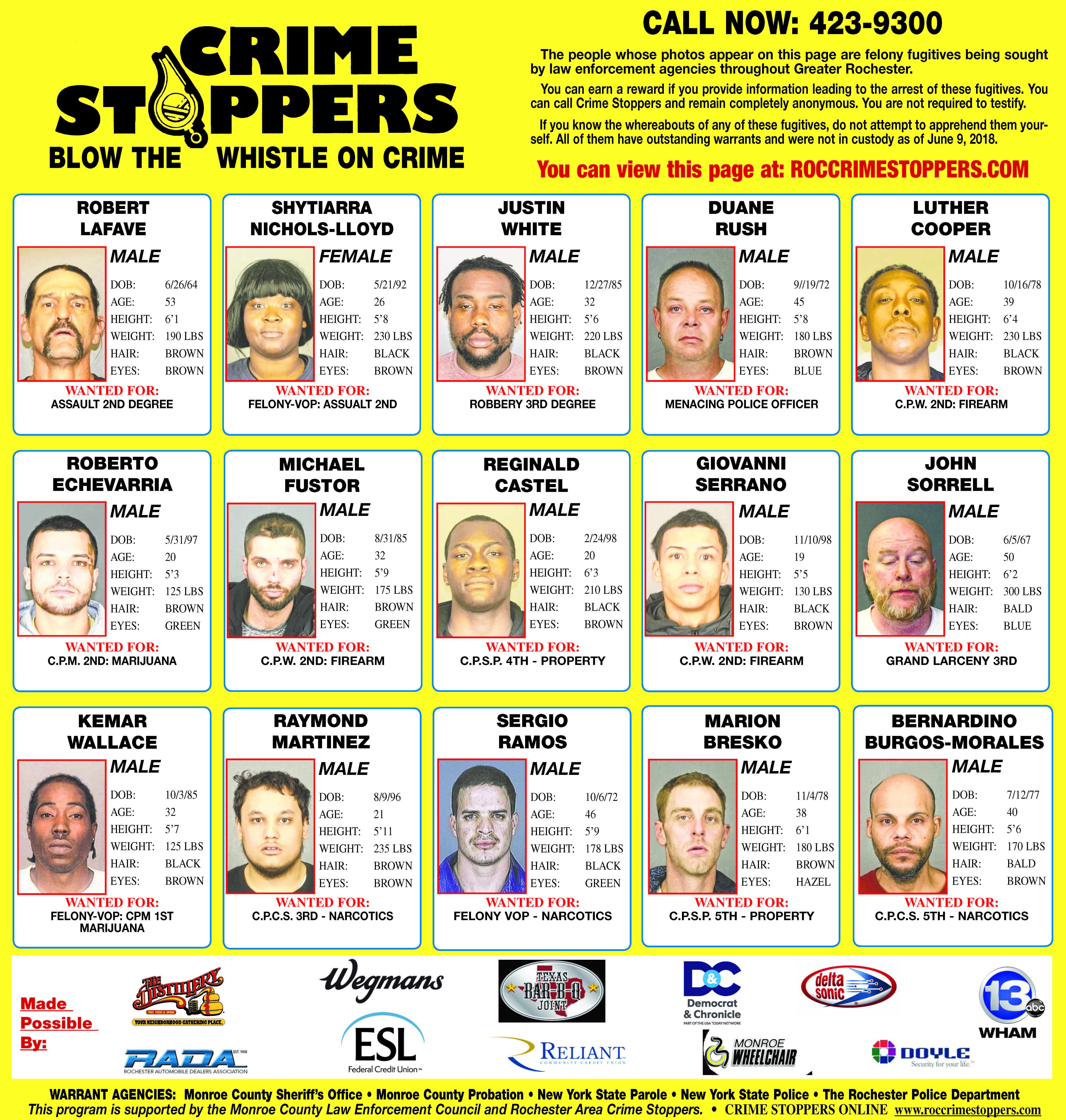 Sheriff Crime Stoppers | Monroe County, NY