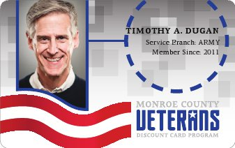 Monroe County Veterans Discount Card Program graphic